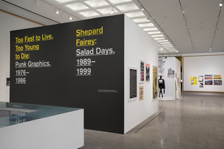 <em>Too Fast to Live, Too Young to Die: Punk Graphics, 1976-1986</em>, Exhibition Identity, Designed with Andrew Blauvelt, Cranbrook Art Museum, 2018. Photo by PD Rearick