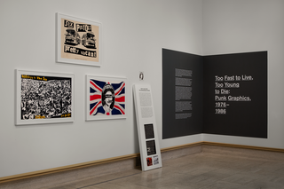 <em>Too Fast to Live, Too Young to Die: Punk Graphics, 1976-1986</em>, Exhibition Identity, Designed with Andrew Blauvelt, Cranbrook Art Museum, 2018