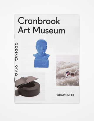 Identity redesign for Cranbrook Art Museum, Spring 2019 Newsletter. Photo by PD Rearick